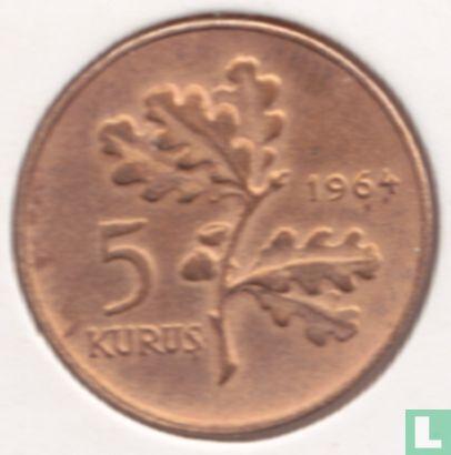 Turquie - Turquie 5 kurus 1964
