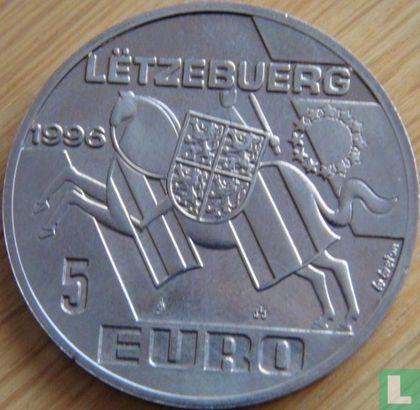 "Luxemburg 5 Euro 1996 ""Henri des Pays-Bas""  - Afbeelding 1"