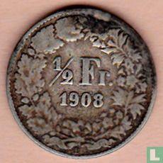 Zwitserland (Helvetia) - Zwitserland ½ franc 1908