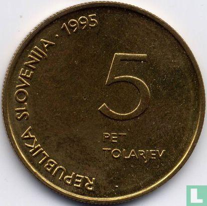 "Slovenia 5 tolarjev 1995  ""50th Anniversary - Defeat of Fascism"" - Image 1"