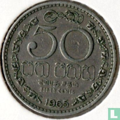 Ceylan - Ceylon 50 cents 1965
