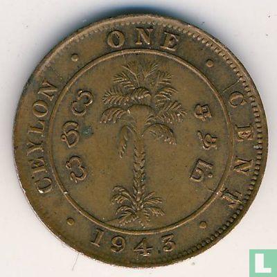 Ceylan - Ceylon 1 cent 1943