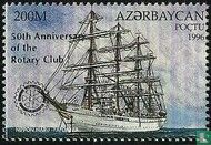 Azerbaijan - Sailing ships, with overprint