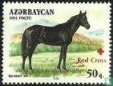 Azerbaijan - Horses, with overprint