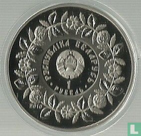 "Belarus 1 ruble 2010 (PROOF) ""Belarusian folk trades and crafts - Blacksmithing"" - Image 1"