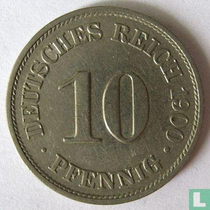 Allemagne - Empire allemand 10 pfennig 1900 (A)