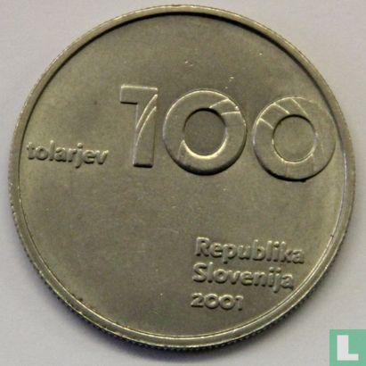 Slovenia 100 tolarjev 2001 - Image 1
