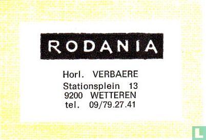 Rodania Horl. Verbaere