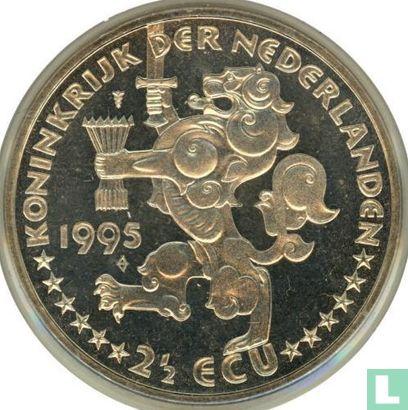 """Nederland 2½ ecu 1995 """"50 jaar bevrijd"""" - Afbeelding 1"""