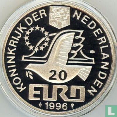 """Nederland 20 euro 1996 """"Constantijn Huygens"""" (met gehaltesymbool) - Afbeelding 1"""