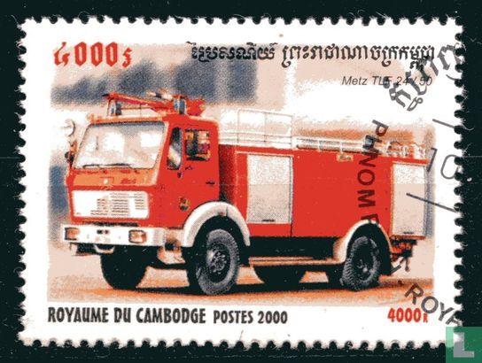 Cambodja - Brandweerauto's