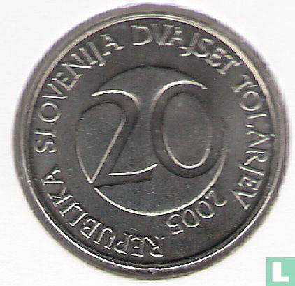 Slovenia 20 tolarjev 2005  - Image 1