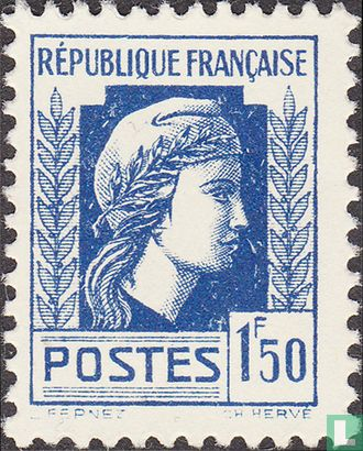 Frankrijk [FRA] - Marianne (van Algiers)