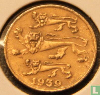 Estonia 1 sent 1939 (1 mm) - Image 1