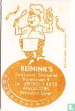 Bag - Reimink's Restaurant Snelbuffet