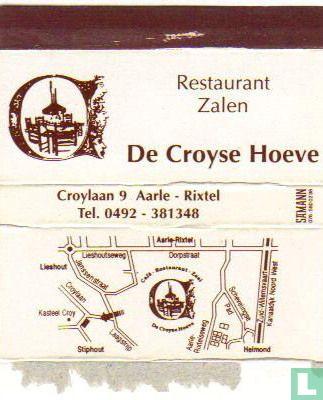 Restaurant zalen De Croyse Hoeve
