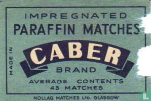 Paraffin matches Caber