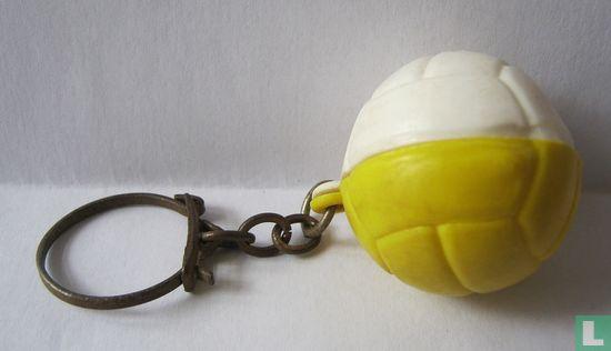 Voetbal geel/wit