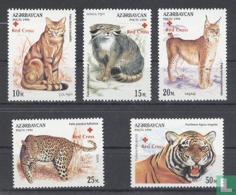Azerbaijan - Felidae, with overprint