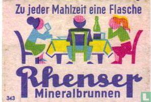 Rhenser - Zu jeder Mahlzeit eine Flasche....
