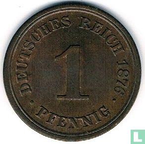 Allemagne - Empire allemand 1 pfennig 1876 (F)