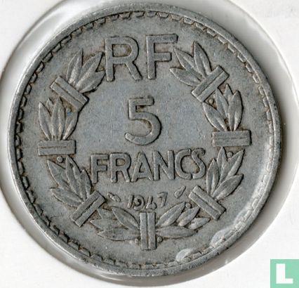 Frankrijk (France) - Frankrijk 5 francs 1947 (aluminium - zonder B, 9 geopend)