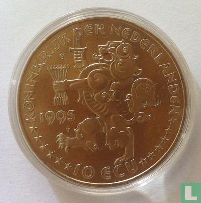 """Nederland 10 ecu 1995 """"50 jaar Bevrijding"""" - Afbeelding 1"""