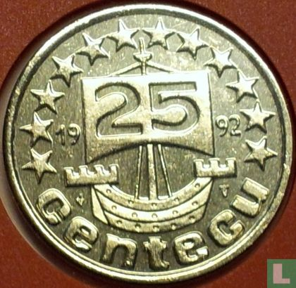 Nederland 25 centecu 1992  - Afbeelding 1