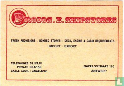 Proios. E. Shipstores