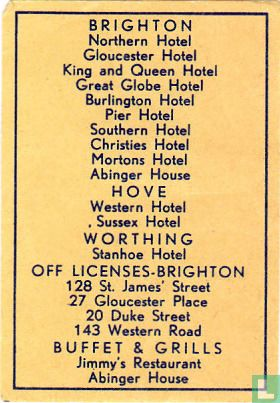 hotels Brighton - Hove - Worthing