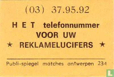 Het telefoonnummer voor uw reklamelucifers - Image 1