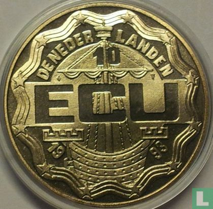 "Nederland 10 Ecu 1993 ""Leeghwater"" - Afbeelding 1"