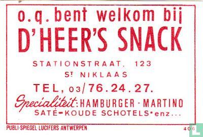 D'Heer's snack - Image 1