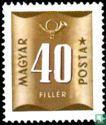 Ungarn - Nummer und Posthorn