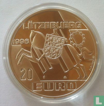 "Luxemburg 20 euro 1996 ""Prins Hendrik"" - Afbeelding 1"