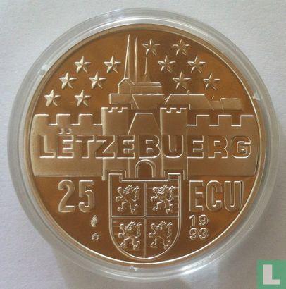 "Luxemburg 25 ecu 1993 ""Joseph Bech"" - Afbeelding 1"