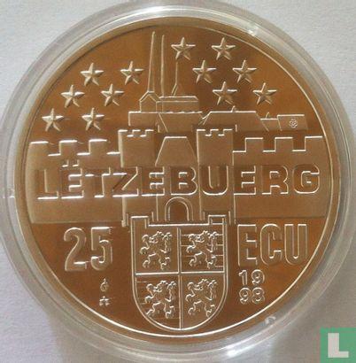 "Luxemburg 25 ecu 1998 ""Groot-hertog Henri"" - Afbeelding 1"