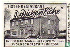 """Hotel Rest. z """"Dicken Eiche"""" - Th.Hagemann"""