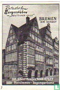 """Raststüben Bürgerstüben """"Deutschen Haus"""" - Albert Henjes"""