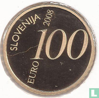 "Slovenia 100 euro 2008 (PROOF) ""250th anniversary of the birth of Valentin Vodnik"" - Image 1"