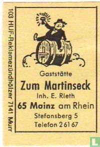 Gaststätte Zum Martinseck - E.Rieth