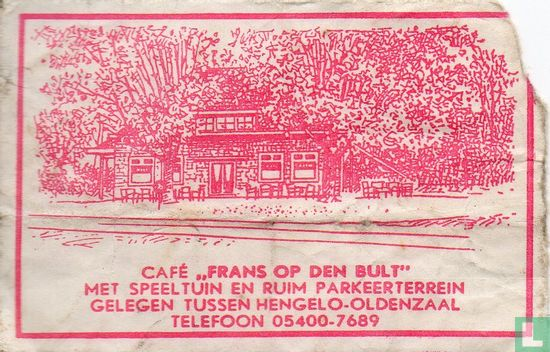 "Zakje - Café ""Frans op den Bult"""