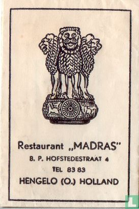 """Zakje - Restaurant """"Madras"""""""