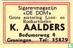 """Sigarenmagazijn """"De Dom"""" - K. Aalders"""