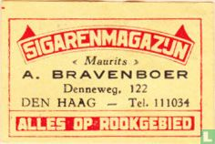 """Sigarenmagazijn """"Maurits"""" A. Bravenboer"""