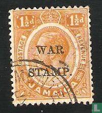 Jamaica - Koning George V, opdruk WAR STAMP.