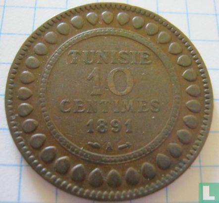 Tunesië - Tunesië 10 centimes 1891 (AH1308)