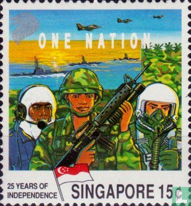 Singapur - 25 Jahre Unabhängigkeit