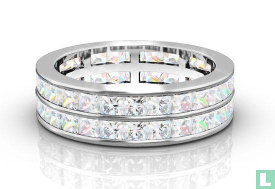 Two Row Princess Cut Diamond Full Eternity Ring - Afbeelding 1