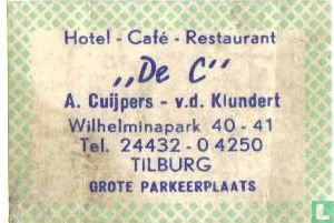 "Hotel-Café-Restaurant ""De C"" - A. Cuijpers - v.d.Klundert"